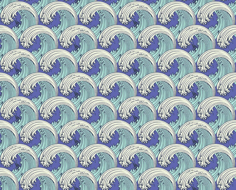 Aquamarine White CapsPWTP122.AQUAM Zuma by Tula Pink