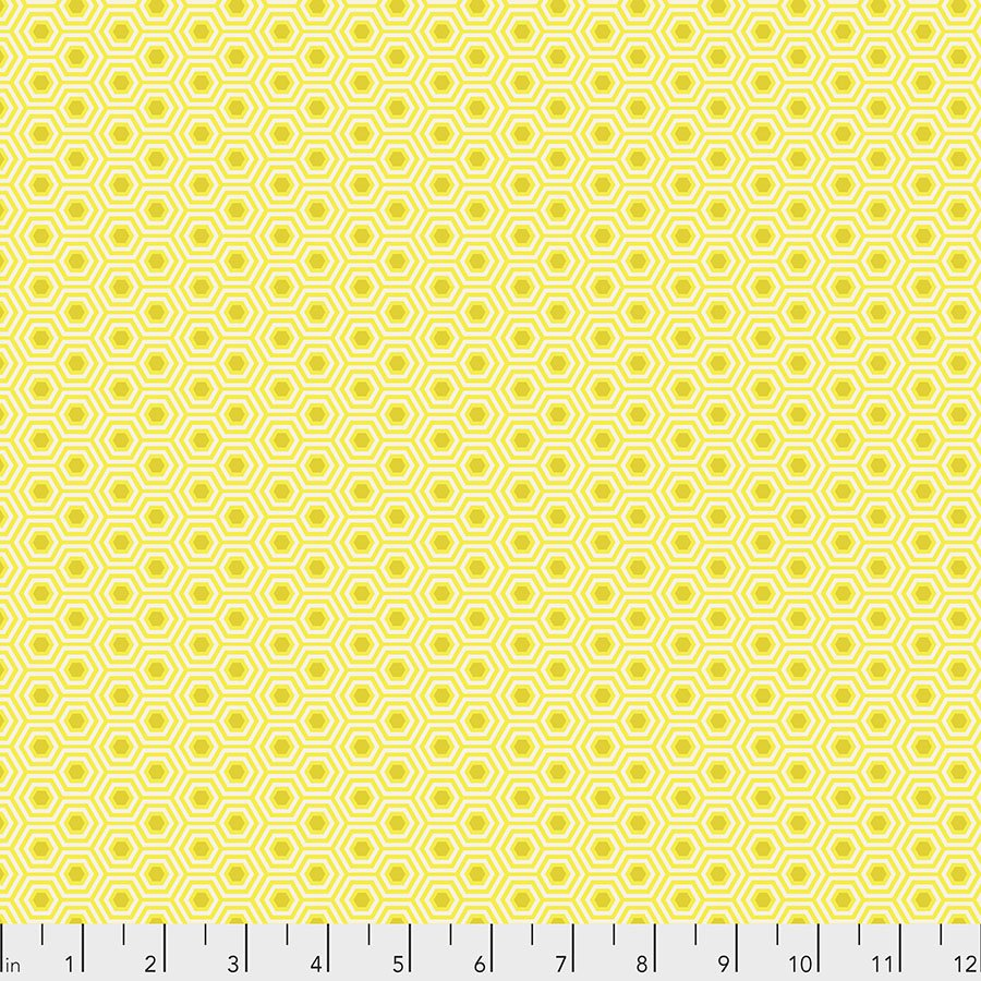 Sunshine Hexy PWTP150.SUNSHINE True Colors by Tula Pink