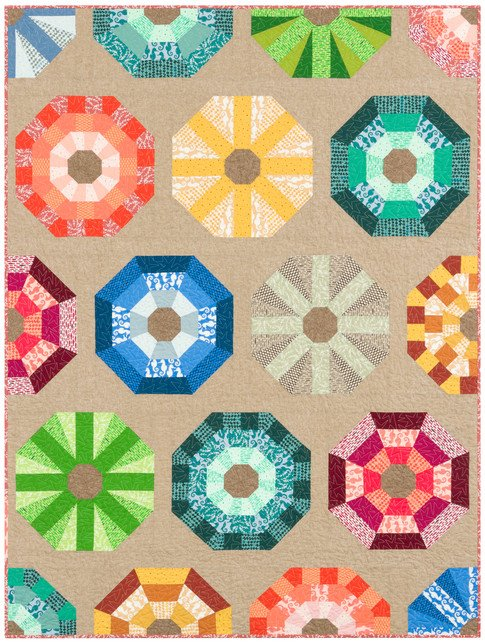 Sea Urchins quilt kit featuring Reef 54 x 72