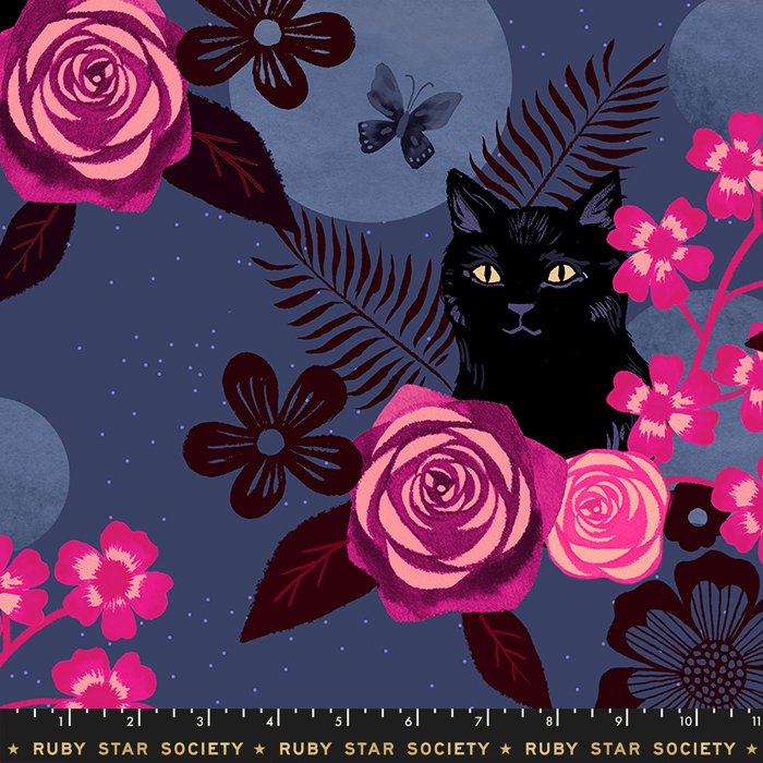 Midnight Magic Cat RS5008 12R Rayon 2019 by Ruby Star Society