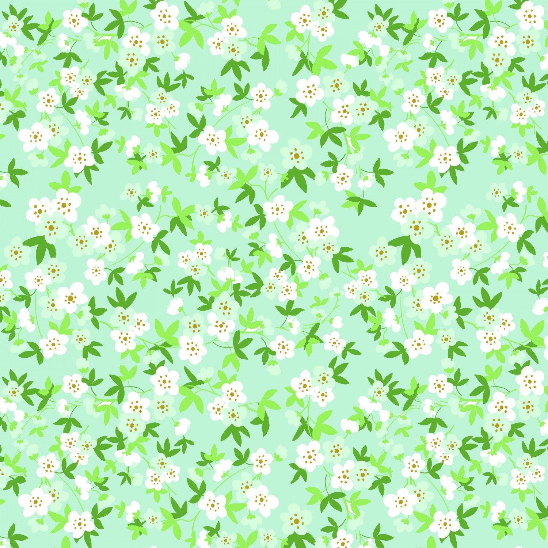 Floral Mint with Sparkle Safari Party SC6506-MINT