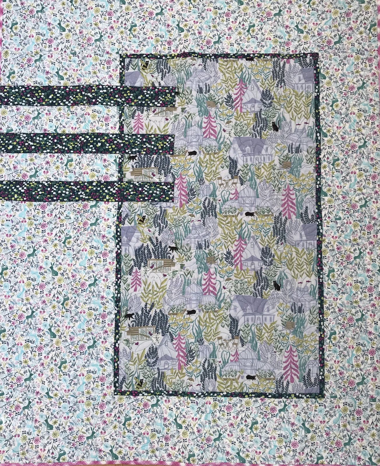 Sleep Tight Bunnies quilt KIT