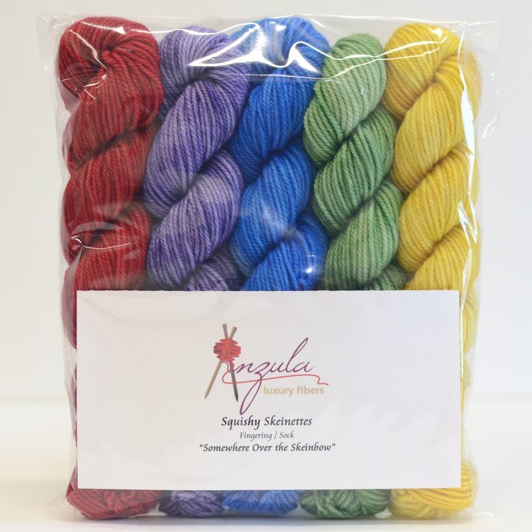 Somewhere Over the Skeinbow Squishy Skeinettes by Anzula Fingering/Sock Weight
