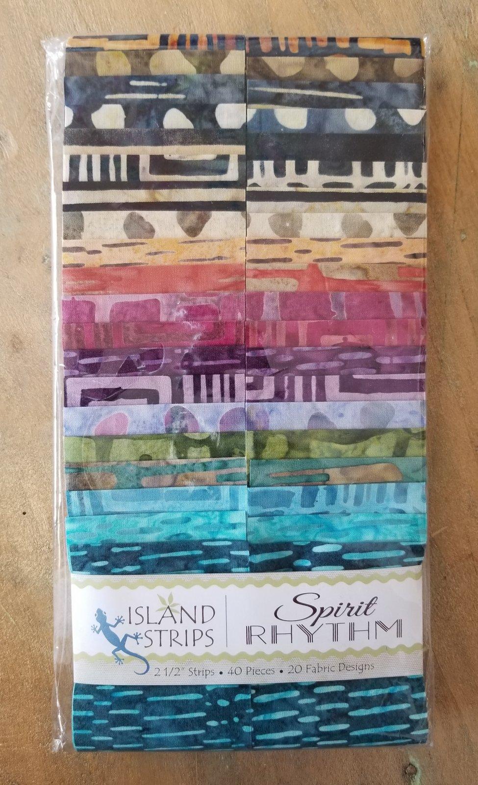 Spirit Rhythm 2.5 Strip Pack by Island Batik