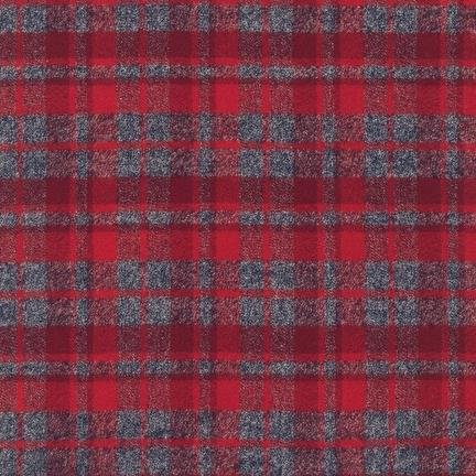 Red plaid flannel SRKF-13927-3 Mammoth Flannel