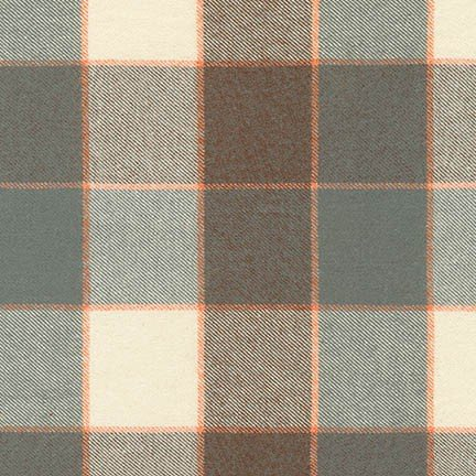 Grey plaid flannel SRKF-16406-12 Tahoe Flannel