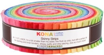 Bright Palette 41 pcs 1.5in x 42in Kona Solids SS-106-41