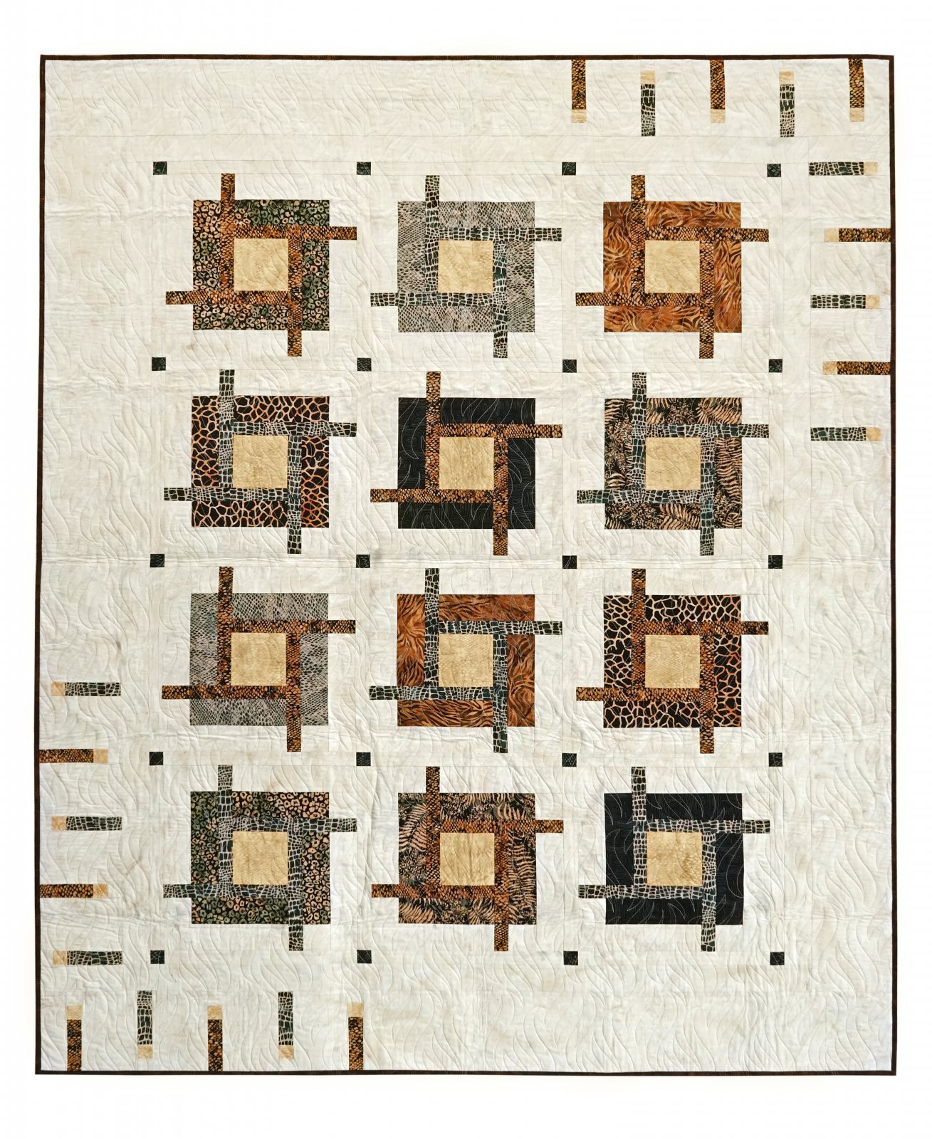 Tattoo batik quilt kit 63 x 78