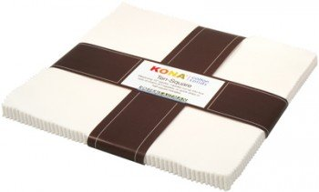 Snow 42 pcs 10in x 10in Kona Solids TEN-121-42