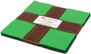 Wondrous Woods  42 pcs 10in x 10in Kona Solids TEN-274-42