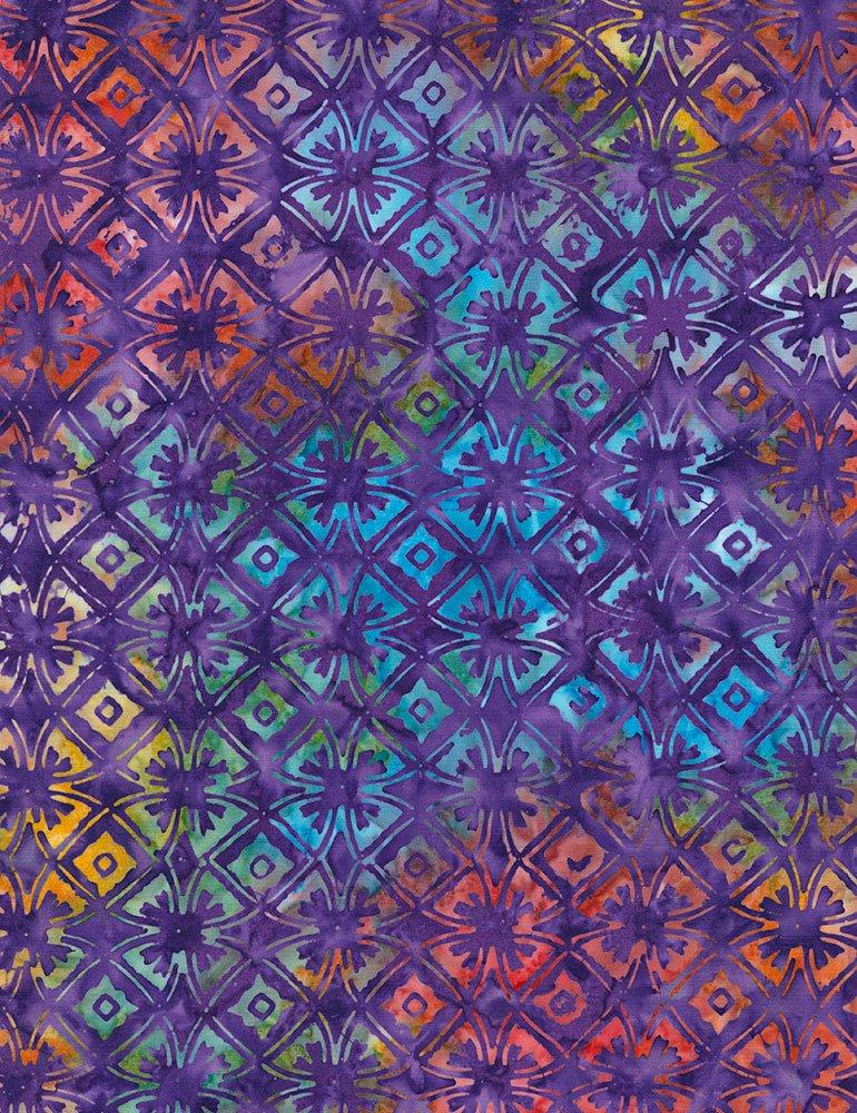 Gypsy Geo Flowers Batik Tonga-B6037-Gypsy Tonga Zing by Timeless Treasures
