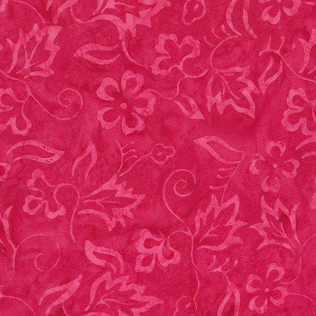 Peony Delicate Vine Batik TONGA-B7127-PEONY Dazzle by Timeless Treasures
