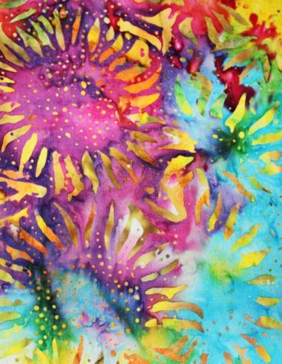 Bright Sunflower batik WIDE BACK WB10030-X Anthology Fabrics