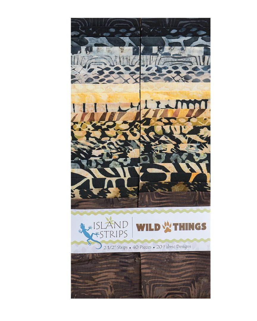 Wild Things 2.5 Strip Pack by Island Batik