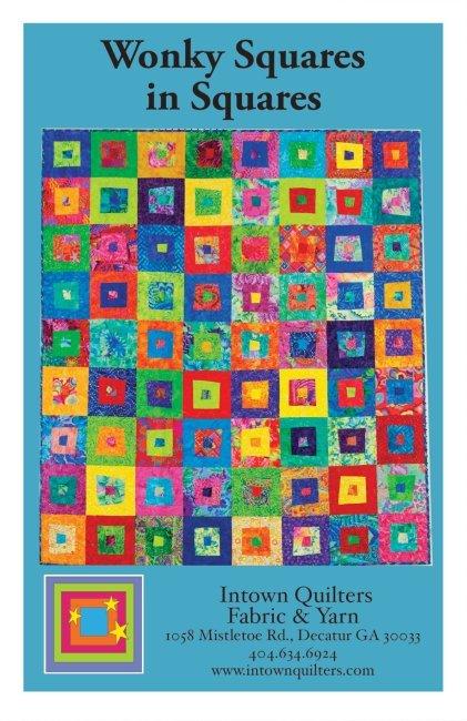 Wonky Squares in Squares PDF quilt pattern