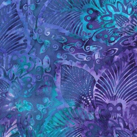 Reef Floral 106 WIDE Batik XTONGA-B7855-REEF 106 Batik Backings by Timeless Treasures