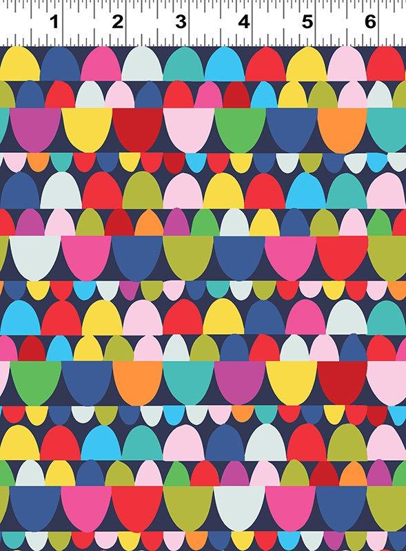 Blue Heart Stones Y2879-53 Happy by Katie Webb Design
