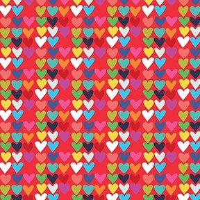 Red Mini Hearts Y2880-79 Happy by Katie Webb Design