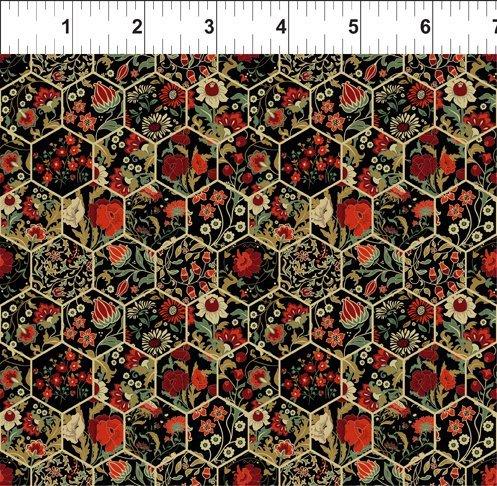 Garden Delights III 11GSG1 Hexagons Red