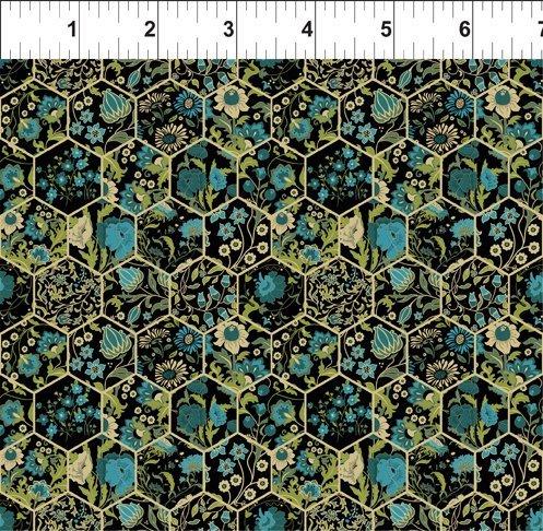 Garden Delights III 11GSG2 Hexagons Teal
