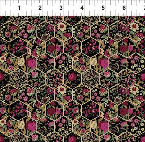 Garden Delights III 11GSG3 Hexagons Magenta