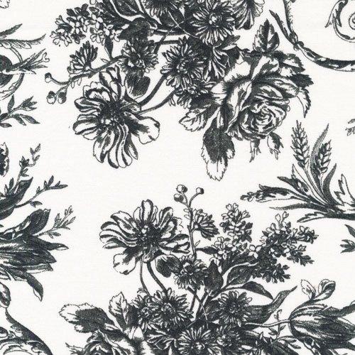 Sophisticates 120-12931 Mono Floral Black/White