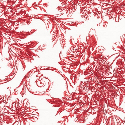 Sophisticates 120-12933 Mono Floral Red/White