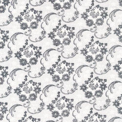 Sophisticates 120-12941 Paisley Black/White