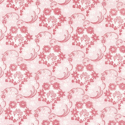 Sophisticates 120-12942 Paisley Red/White