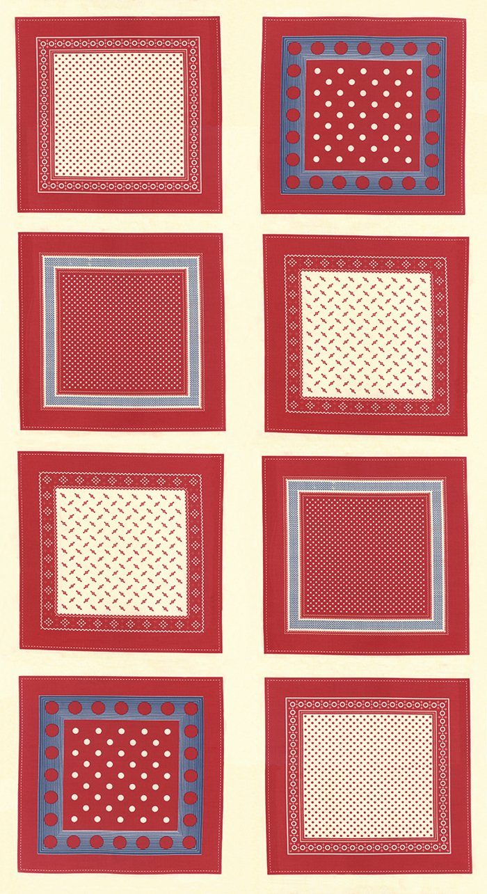 Polka Dots & Paisleys 14800-16 Panel Cream Red