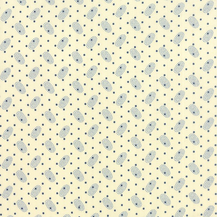 Polka Dots & Paisleys 14807-12 Ivory Blue