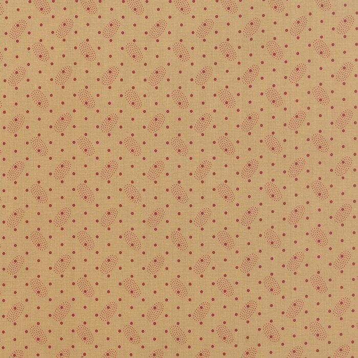 Polka Dots & Paisleys 14807-13 Tan Red