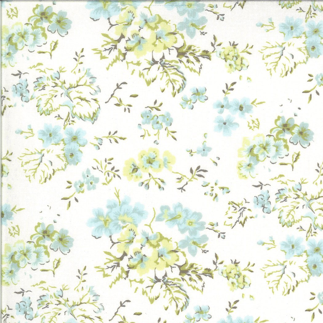 Dover Ticking 18700-11 Field Floral Linen White