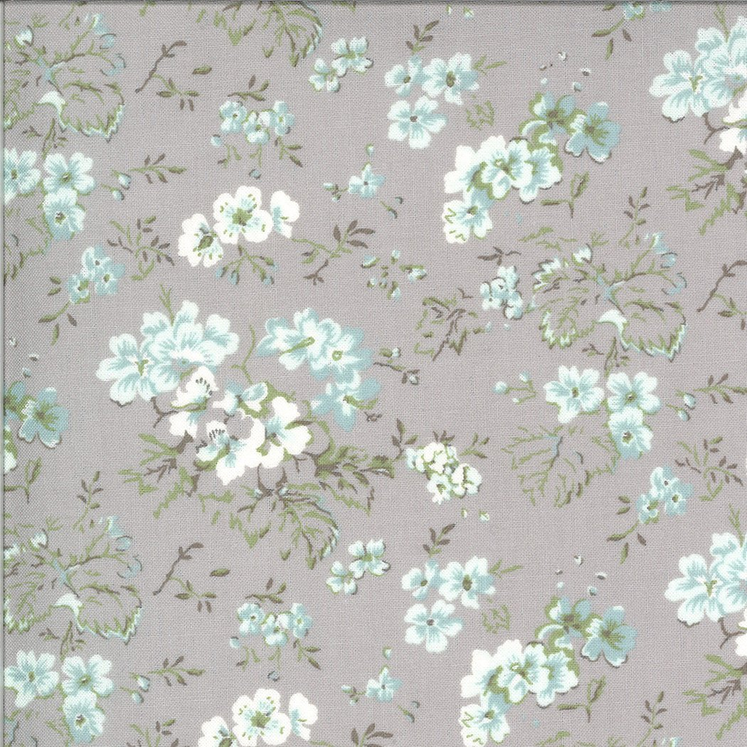 Dover Ticking 18700-14 Field Floral Grey