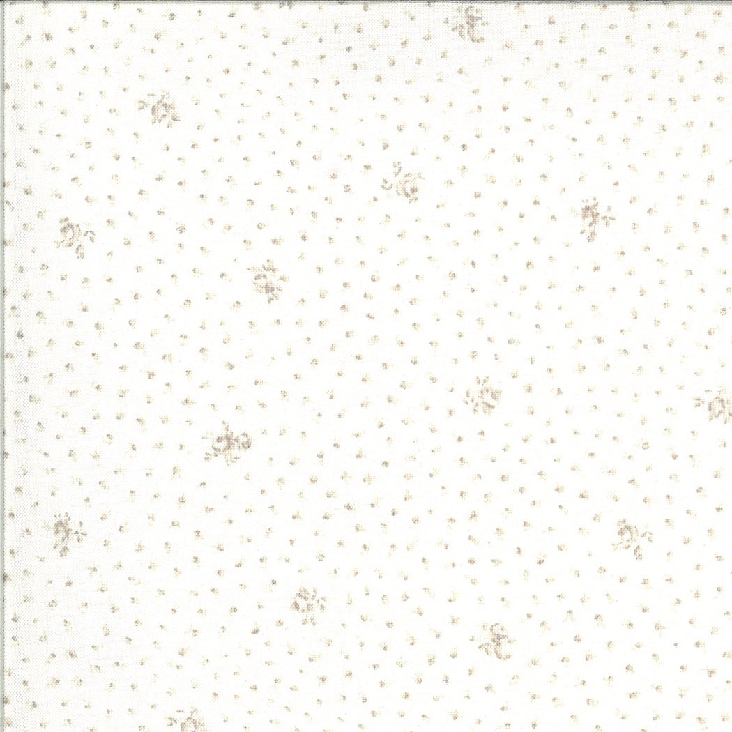 Dover Ticking 18702-11 Floral Linen White