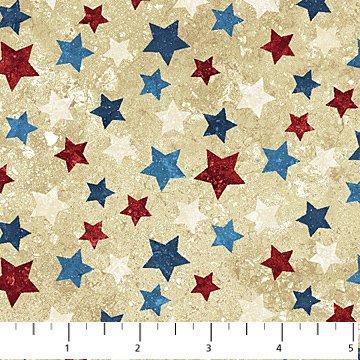 Stars and Stripes 7 20159-30 Beige  Multi Stars on Beige