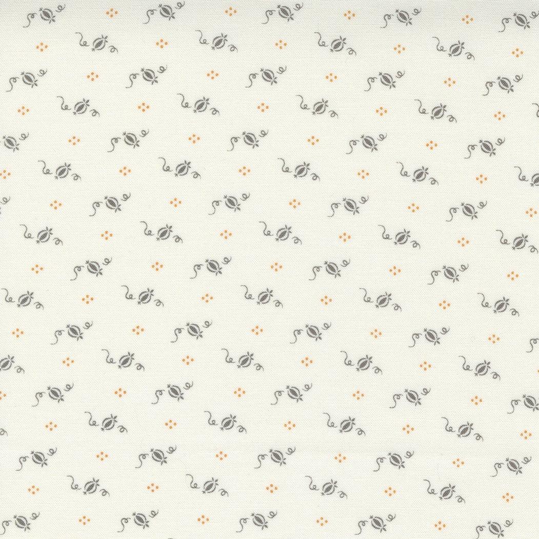 Pumpkins and Blossoms 20427-27 Vanilla Charcoal
