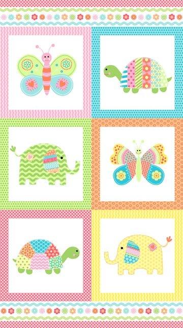 Bundle of Love 20984-63 Aqua Panel