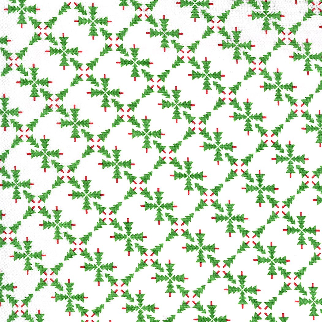 Merry and Bright 22401-13 White Green