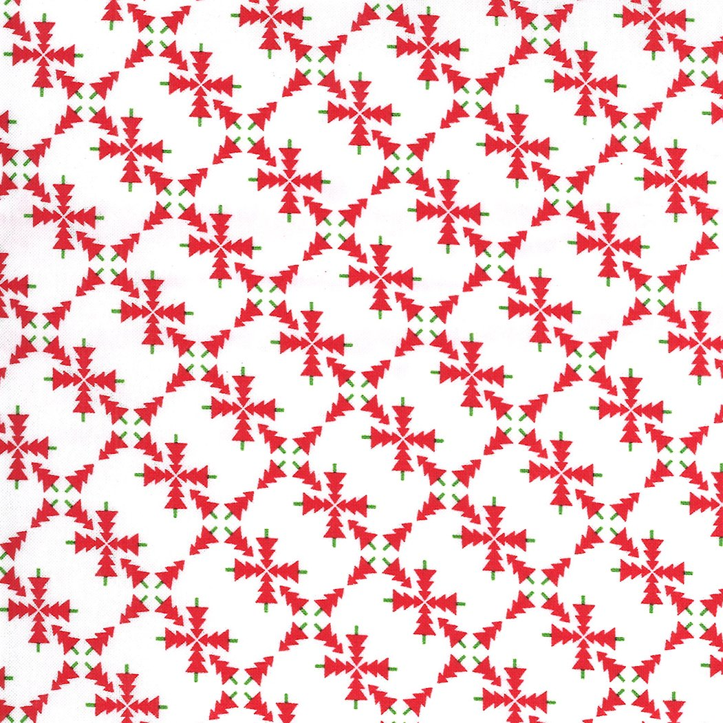 Merry and Bright 22401-23 White Red