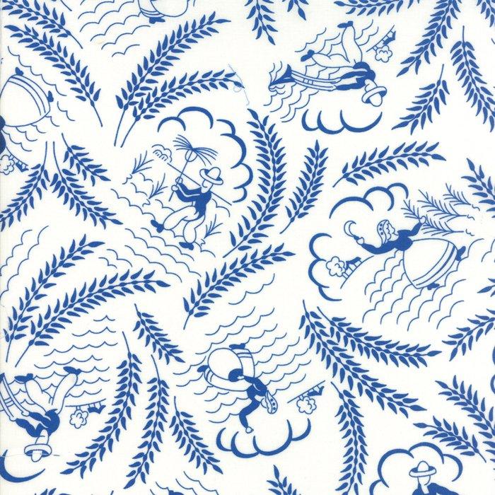 Feed Sacks True Blue 23300-11 Vintage Cotton