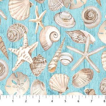 COASTAL CHRISTMAS 23427-42 Blue (Shell Toss)