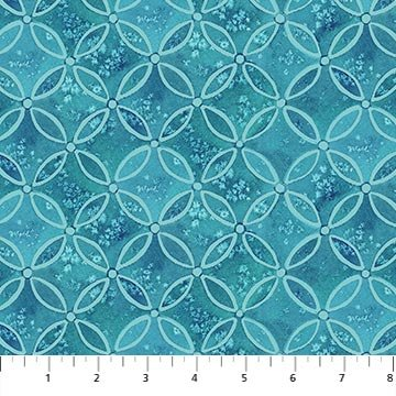 COASTAL CHRISTMAS 23428-44 Blue (Circle Grid)