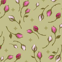 Rosa 23633-H Rosebuds Light Olive