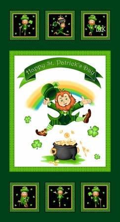 Irish Folk 2398P-689 24 Panel Emerald