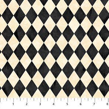 Black Cat Capers 24122-12 Harlequin Beige Multi