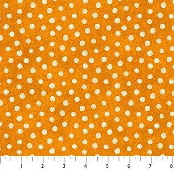 Black Cat Capers 24125-55 Dots Orange Beige