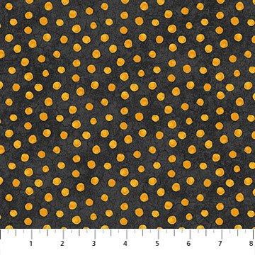 Black Cat Capers 24125-99 Dots Black Orange