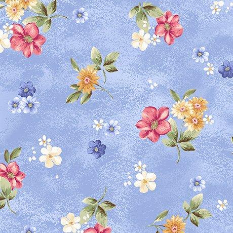 Garden Grandeur 26491-B Floral Toss Blue