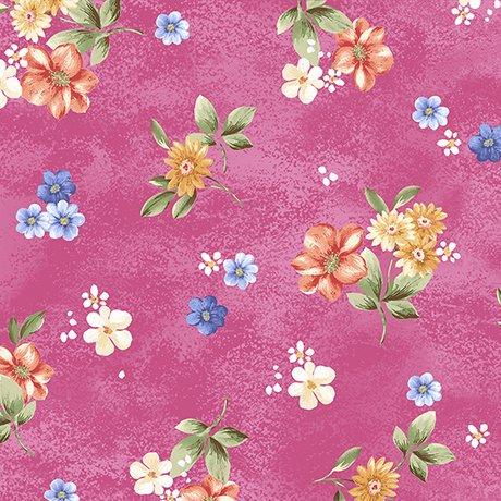 Garden Grandeur 26491-P Floral Toss Dark Pink